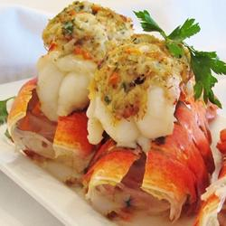 Crab stuffed lobster tail for Triple tail fish recipes