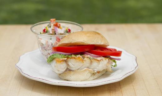 Florida grouper sandwich for Triple tail fish taste
